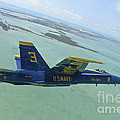 An Fa-18 Hornet Of The Blue Angels by Stocktrek Images