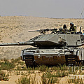 An Israel Defense Force Magach 7 Main by Ofer Zidon
