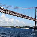 April Bridge In Lisbon by Luis Alvarenga