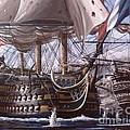 Battle Of Trafalgar by Richard John Holden RA
