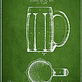Beer Mug Patent From 1876 - Green by Aged Pixel