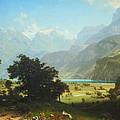 Bierstadt's Lake Lucerne by Cora Wandel
