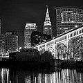 Black And White Cleveland Iconic Scene by Frozen in Time Fine Art Photography