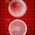Bowling Ball Patent 1894 - Red by Stephen Younts