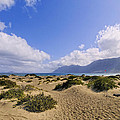 Caleta De Famara Beach On Lanzarote by Karol Kozlowski
