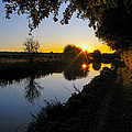 Canal Sunset by Mark Llewellyn