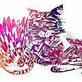 3 Cats Purple by Justyna JBJart