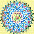 Colorful Signature Art Chakra Round Mandala By Navinjoshi At Fineartamerica.com Rare Fineart Images  by Navin Joshi