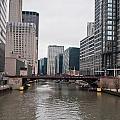 Chicago Skyline And Streets by Alex Grichenko