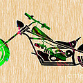Chopper Motorcycle by Marvin Blaine