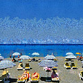 Beach At The City Of Rhodes by George Atsametakis
