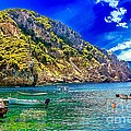 Cliffside Coastline On Corfu by Dragomir Nikolov