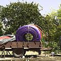 Coils Of Thick Plastic Pipe On A Carrier Wagon by Ashish Agarwal