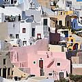 Colorful Oia by George Atsametakis