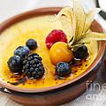 Creme Brulee Dessert by Elena Elisseeva