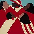 Crimson And Cream by Synthia SAINT JAMES