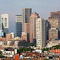 Downtown Boston Skyline by Bill Cobb