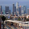 Downtown Los Angeles Skyline by Bill Cobb