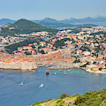 Dubrovnik, Croatia. Overall View Of Old by Ken Welsh