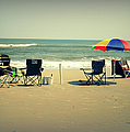 3 Empty Beach Chairs by Paulette B Wright