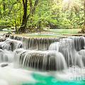 Erawan Waterfall In Kanchanaburi Province by Anek Suwannaphoom