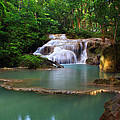 Erawan Waterfall by Kwankhaow Podjana