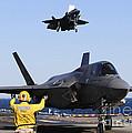 F-35b Lighnting II Variants Land Aboard by Stocktrek Images