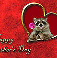 Father's Day Raccoon by Jeanette K