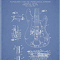 Fender Guitar Patent Drawing From 1961 by Aged Pixel
