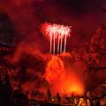 Fireworks Above Toce Falls, Formazza by Paolo Sartori