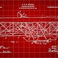 Flying Machine Patent 1903 - Red by Stephen Younts