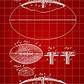 Football Patent 1902 - Red by Stephen Younts