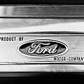 Powered By Ford Emblem -0307bw by Jill Reger