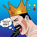 Freddie Mercury by Mark Ashkenazi