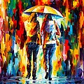 Friends Under The Rain by Leonid Afremov