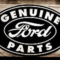 Genuine Ford Parts Sign by Jill Reger