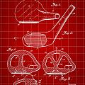 Golf Club Patent 1926 - Red by Stephen Younts