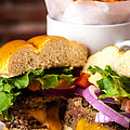 Gourmet Pub Hamburger by Teri Virbickis