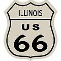 Historical Route 66 Sign by Indian Summer