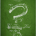Horseshoe Patent Drawing From 1898 by Aged Pixel