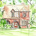 House Rendering Sample by Lizi Beard-Ward