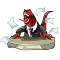 Illustration Of A Tyrannosaurus Rex by Stocktrek Images