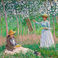 In The Woods At Giverny by Claude Monet