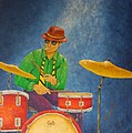 Jazz Drummer by Pamela Allegretto