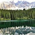 Lake Carezza by Luisa Azzolini