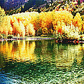 Lake Reflection In Fall by OLena Art Lena Owens