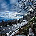 Linn Cove Viaduct During Winter Near Blowing Rock Nc by Alex Grichenko