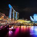 Marina  Bay Sands - Singapore by Luciano Mortula