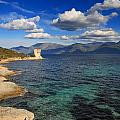Martello Tower Near St Florent In Corsica by Jon Ingall