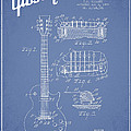 Mccarty Gibson Les Paul Guitar Patent Drawing From 1955 - Light Blue by Aged Pixel